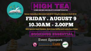 Meant To Rise High Tea